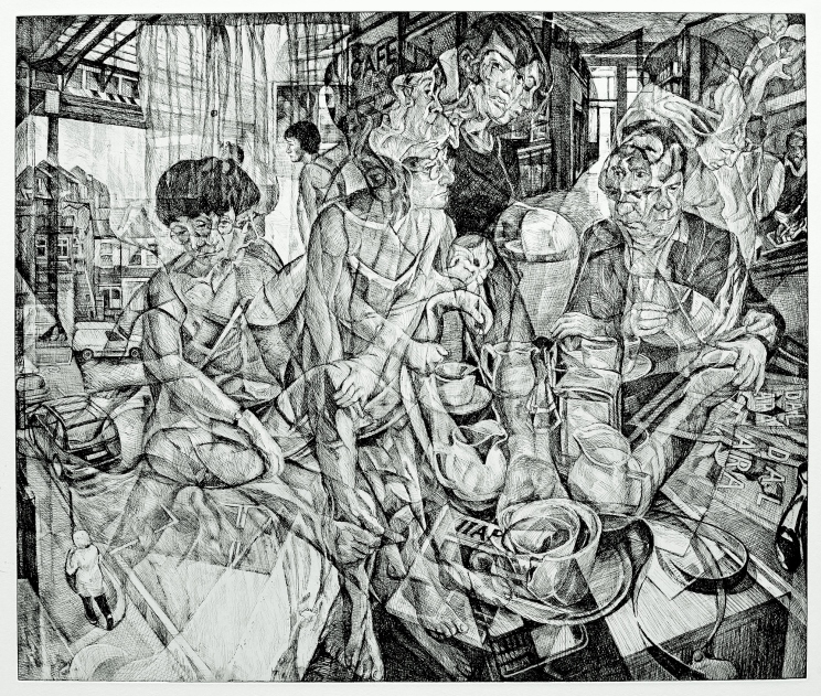 """After Balham Falls 2012 Etching on Paper 43.2 cm x 60.3 cm / 17"""" x 23 3/4"""" Edition of 30"""