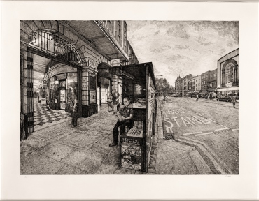 """Arcade 2012 Etching on Paper 93.3 cm x 132.7 cm / 36 3/4"""" x 52 1/4"""" Edition of 30"""