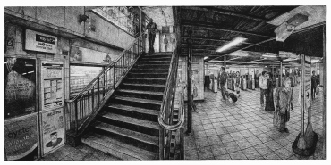 """Terminus 2012 Etching on Paper 66.1 cm x 135.9 cm / 26"""" x 53 1/2"""" Edition of 30"""