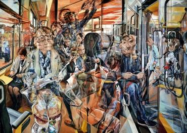 The Cherry Train 2017 Oil on Canvas 136.2 x 191.1 cm / 53 1/2″ x 75 1/2″