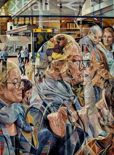 """Cygnes Gris"" Oil on Canvas 116.84 cm x 86.36 cm / 46"" x 34"""