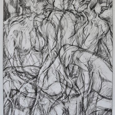 """Drawing to the Dance of Tantalus"" pencil on paper 55.6 cm x 38.9 cm / 21.88 x 15.31 inches"