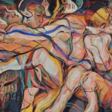 "Postman's Knock 2020 oil on canvas 30"" x 40"" / 76.2 cm x 101.6 cm"
