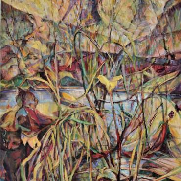 "Hummingbird 2020 oil on canvas 40"" x 30"" / 101.6 cm x 76.2 cm"
