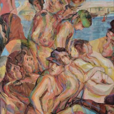 """Shore Leave 2020 Oil on Canvas 40"""" x 30"""" / 101.6 cm x 76.2 cm"""