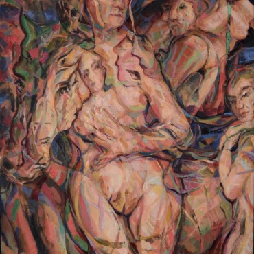 All The King's Horses oil on canvas 40 x 30 inches / 101.6 cm x 76.2 cm