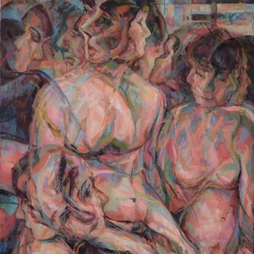 """A Fountainhead 2020 Oil on Canvas 44"""" x 27"""" / 111.76 cm x 68.58 cm"""