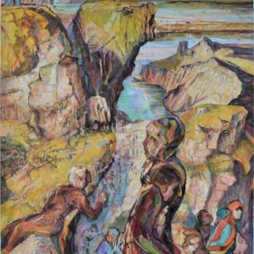 """Headland oil on canvas 122.5 cm x 85.7 cm / 48.22"""" x 33.74"""""""