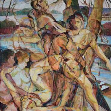 Willow Wives oil on canvas 40 x 32 inches / 101.6 cm x 81.28 cm
