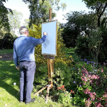 2020 drawing in the garden